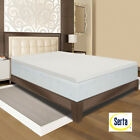 Serta Memory Foam 3-inch Mattress Topper PICK SIZE Antimicrobial Hypoallergenic