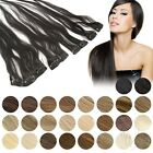 Clip In Extensions Clip On Haarteile 45 cm 60 cm Indisches Remy Echthaar