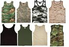 Camo and Colored Tank Tops Shirts Sleeveless Muscle Tanktop Tees T-Shirts NEW! image
