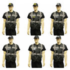 BLACK HIGH VIZ ZIP UP VEST & CAP - FBI CSI SWAT POLICE SECURITY FANCY DRESS SET
