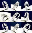 1.21 carat Clear CZ Mens 925 Sterling Silver Wedding band