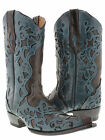 women's brown turquoise cowboy boots ladies leather overlay western rodeo riding