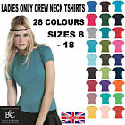 LADIES CREW NECK SHORT SLEEVE FASHION T SHIRTS PLAIN TEE SHORT SLEEVE SUMMER