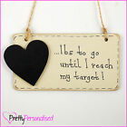 Weight Loss Countdown Chalkboard Plaque - Diet Aid lbs Lost Tracker Target Sign