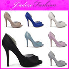 NEW LADIES HIGH HEEL STILETTO CUTAWAY SIDE EVENING COURT SHOES SIZES  UK 3-8