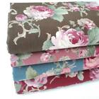 VINTAGE OLD ROSE - 100% COTTON FABRIC ROSES SHABBY VINTAGE CHIC large florall