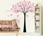 Cherry Tree Flower Removable Wall Stickers Kids Nursery Baby Room Vinyl Decals