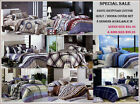 350TC Egyptian Cotton Quilt / Doona Cover Set - 8 Designs Queen & King Size Bed
