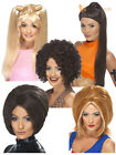 Ladies 90's Spice Girls Pop Star Fancy Dress Wig Baby Posh Ginger Sporty Posh