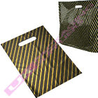 """BLACK GOLD PLASTIC CARRIER BAGS GIFT PARTY 15 X 18 X 3"""" CHEAP OFFER *SELECT QTY*"""