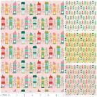 FQ - SO HAPPY HOUSE - RILEY BLAKE 100% COTTON FABRIC town village houses retro