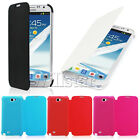 COLOUR PU LEATHER FLIP SAMSUNG GALAXY NOTE 2 II N7100 CASE COVER SCREEN GUARD