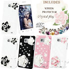 ROSE DIAMOND HARD CRYSTAL CASE COVER FOR SAMSUNG GALAXY II S2 I9100 FREE FILM