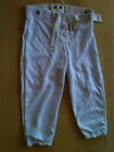 Russell 96921WO-DP Youth Football Pants w/Snaps and Belt, White