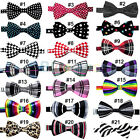 Mens Boys Fashion Novelty Unique Tuxedo Bowtie Wedding Bow Tie Necktie #B1