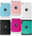For iPad Mini Studded Diamond Rubber Silicone Skin Hybrid Case