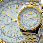 NEW Fashion Luxury Mens Automatic Mechanical Watch Date Gold Wrist Dial Classic