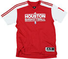 NBA Houston Rockets Yao Ming #11 On Court Adidas Shooting Shirt, Red & White