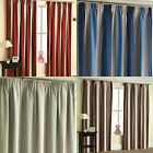 TWILIGHT BLOCK OUT THERMAL LINED TAPE TOP CURTAINS STRIPED PENCIL PLEAT PAIRS