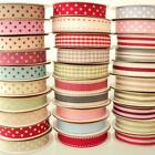 3M RIBBON -  STRIPES AND DOTS RIBBON stripe dot Christmas wedding gift red cream