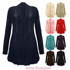 NEW PLUS SIZES LADIES CROCHET KNITTED BOYFRIEND CARDIGAN WOMENS TOP SIZES 16-26