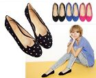 Fashion Girls Womens Suede Rivet Cute Cat Comfort Ballet Flat Loafers Shoes