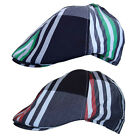 R C Headwear  100% Cotton Country Check Plaid Striped Flat Cap Hat