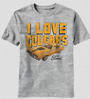 New Ford Motor Classic Mustang Car I Love Cougars Vintage Label Logo T-shirt top