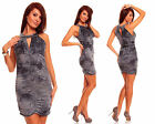ROBE DE SOIREE FETES ETE COURTE STRETCH TOP SEXY FEMME ANTHRACITE T.36/38 - S/M