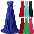 Sweetheart Women's Wedding Party Bridesmaid Evening Formal Prom Ball Long Dress