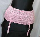 Fredericks of Hollywood Lace Garter Belt  Slip Floral Lace S/M L/XL Sweet & Sexy