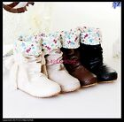Women's Lovely Ankle Side Lace Boots Comfort Low Heel Shoes US All Sz Y790