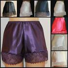 Satin Lace French Knickers Cream White Light Blue Navy Black Red Purple Peach