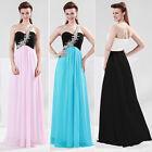 New Sexy One Shoulder Formal Ball Gown Party Prom Bridesmaid Long Chiffon Dress