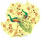Ceramic Decals Peacock Pair Bird Floral Tree