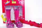 NEW WESTERN CHIEF KIDS RAIN BOOTS & UMBRELLA PURPLE PINK BUTTERFLY SET FOR GIRLS