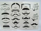Quality 20+ Various Black Fake Ladies Moustache Fashion Temporary Tattoos UKSell