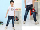 New Cool Kids Boys Girls Back Spider-Man Denim Jeans Pants Trousers 2-7 Years