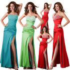 XMAS RED Sequins Sexy Long Maxi Prom Gown Bridesmaid Party Ball Evening Dresses