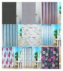 Polyester Fabric Shower Curtains Patterned or Striped 180cm x 180cm