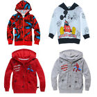 Boys Kid Mickey Mouse Hero Hoodie Top Shirt Outwear Sweatshirt 2-7T Coat Clothes