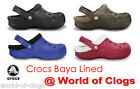 Crocs Baya Lined - Genuine Crocs Original  - Unisex Adult Winter Lined Clogs