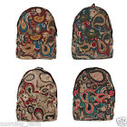 New Paisley Patterned Backpack Girl Women Travel Fashion School Bookbag Rucksack