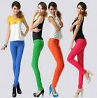 Hotsale Women Sexy Candy Colors Pencil Pants Slim Fit Skinny Jeans Trousers