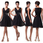 Short Prom Party Evening Bridesmaid Cocktail Wedding Dress Ball gown IN 8 Size