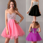 TUTU Homecoming Sequins Shning Formal Prom Gown Birthday Party Cocktail Dresses