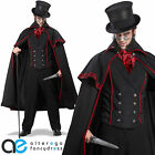 MENS JACK THE RIPPER HALLOWEEN FANCY DRESS COSTUME VICTORIAN HORROR OUTIFT