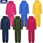TRESPASS BUTTON SUIT WATERPROOF PUDDLE ALL IN ONE RAINSUIT BOYS GIRLS KIDS CHILD