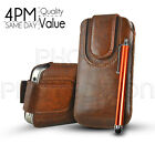 Button Premium PU Leather Pull Tab Case Cover & Stylus For Various Nokia Mobiles