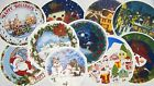 Ceramic Decals Christmas Holiday Plate Snowman Santa Victorian City Holly image